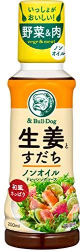ブルドックソース 生姜とすだちノンオイルドレッシングソース 200ml×4本