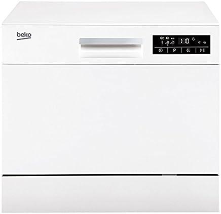 Beko DTC36610W Encimera 6cubiertos A+ lavavajilla - Lavavajillas (Encimera, Blanco, Compacto, Estático