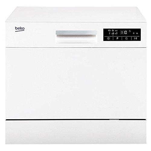 BEKO dtc36610W Comptoir du 6places A + Spülmaschine–Geschirrspülmaschinen (Comptoir du, weiß, kompakt, Statische, Korb, Edelstahl)