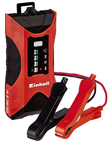 Einhell batería Cargador CC de BC 2m (para Pilas de 3hasta 60Ah tensión de Carga, 6V/12V, Invierno Modo de Carga, indicador LED de Carga batería de tensión y Progreso)