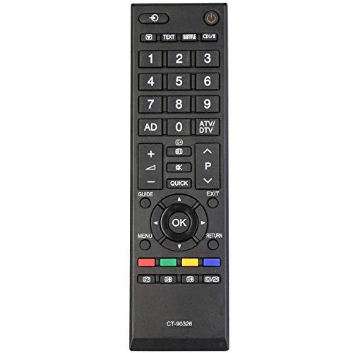 Nuova sostituzione Telecomando Toshiba CT-90326, Nessuna configurazione necessaria TV Telecomando universale - Compatibile con Toshiba 40LV703G1 40LV733F 40LV733N 40LV675 40LV675D 40LV833F