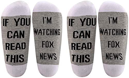 AATOP Fox News Gift If You Can Read This I'm Watching Fox News - Calcetines de algodón, diseño de zorro