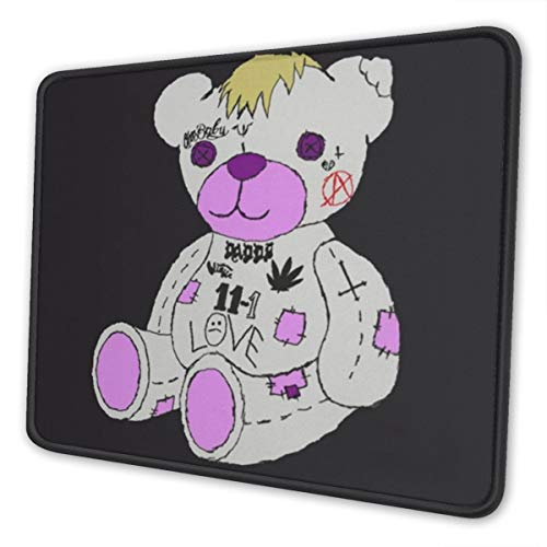 Lil-Peep Bear Mouse Pad for Laptops Office Computer Gaming Rubber Rectangle Personalized Mouse Mat 10 X 12 Inch