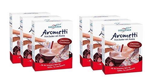 Südzucker Arometti Amaretto - Geschmack 6 x 100g (6 x 25 Stück)