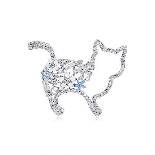 Accessori Coat Zircone animali perla pin corpetto da donna di fascia alta del torace versione fibbia coreana della nuova tendenza della moda spilla simpatico gattino cappotto vestiti decorativi