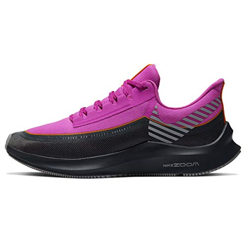 Nike Women's Air Zoom Winflo 6 Shield Running Shoes (8, Fire Pink/Reflect Silver/Anthracite)