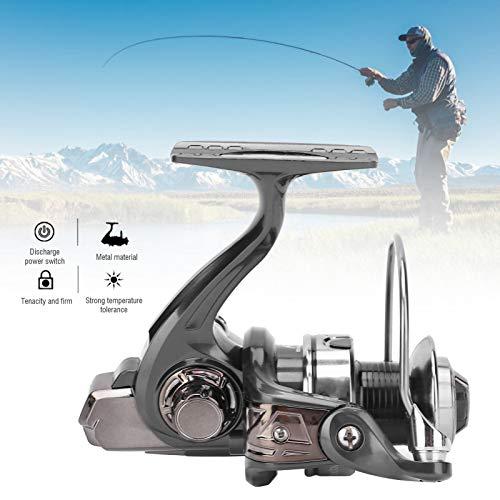 WinmetEuro Carrete Giratorio de Pesca, Carrete Giratorio de Metal para Herramientas de Pesca para Exteriores para Pescar en el Lago(HQ4000)