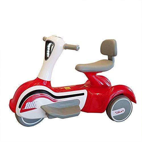 Fee-ZC Kinderbeveiliging voor motorfiets, 3 fietsen, elektromotor, driewieler voor kinderen van 1 tot 6 jaar, muziek, koplampen, accu 6 V, 3 km/h.
