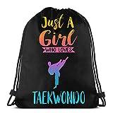 Vicky Just A Girl Who Loves Taekwondo - Mochila de Viaje con cordón, tamaño Talla única