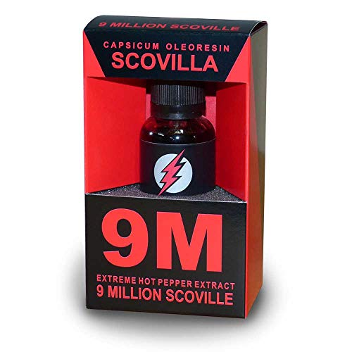 Scovillas 9M, 9 Million Scoville Extreme Hot Pepper Extract, 30ml