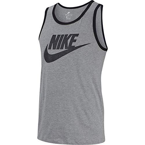 Nike Men's Classic Futura Tank Top (Grey, Medium)