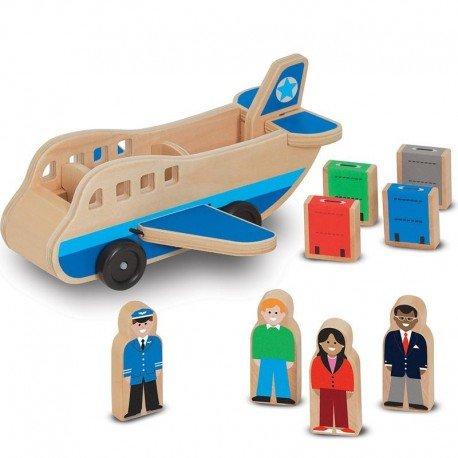 Jouet en bois Avion 9 pcs pour Enfants à partir de 3 ans