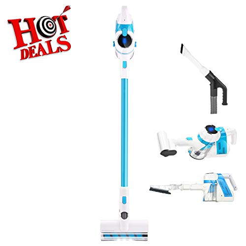 Review FUNMILY Cordless Vacuum Cleaner, 5 in 1 Stick Vacuum with Electric Hose & LED Brush, Lightwei...