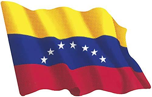 Artimagen Pegatina Bandera Ondeante Venezuela pequeña 65x50 mm.