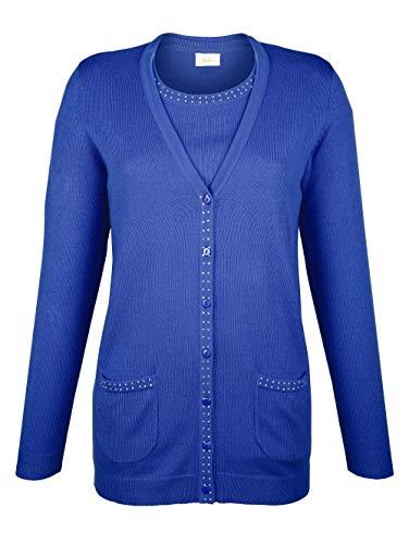 Paola Damen Twinset in Blau in kuschelig weicher Qualität