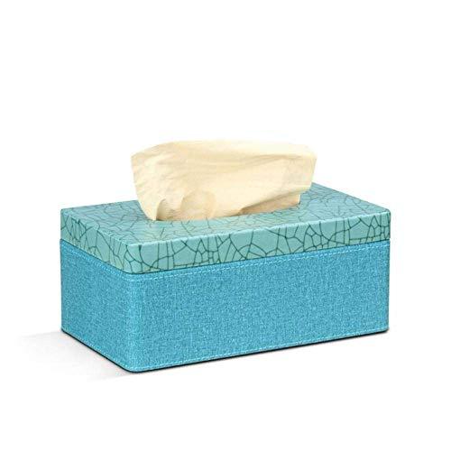 HYY-YY Caja de pañuelos para pañuelos de papel, rectangular, de lino, de mármol, de piel sintética, para decoración del hogar, oficina
