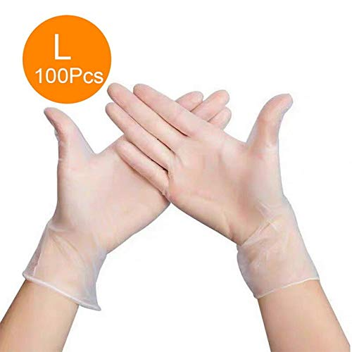Chendunchishi 100PCS 4-farbige Einweghandschuhe Latex Geschirrspül- / Küchen- / Arbeits- / Gartenhandschuhe Links und rechts allgemein |Heimhandschuhe