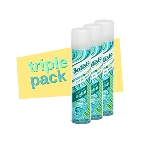 BATISTE - ORIGINAL 200ML TRIPLE PACK - Batiste Dry Shampoo Clean and Classic Original Dry Shampoo voor alle haartypes, per stuk verpakt (3 x 200 ml)