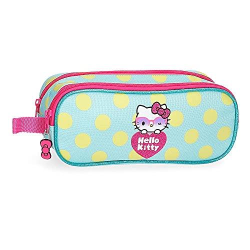 Hello Kitty Pretty Glasses Trousse Double Vert 23 x 9 x...