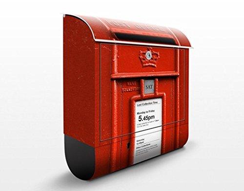 Briefkasten mit Zeitungsrolle Briefkasten in UK 46cm x 39cm