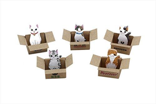 玩具の神様 ペタネコ! - かわいい 箱入り 猫 - ひろって ニャンコ 付箋 - 5種類 x 30枚 豪華150枚 癒しの ネコ 付箋 メモ マーカー