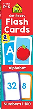 School Zone - Get Ready Flash Cards Alphabet & Numbers 2 Pack - Ages 4 to 6 Preschool to Kindergarten ABCs Uppercase and Lowercase Letters Numbers 1-100 Counting and More