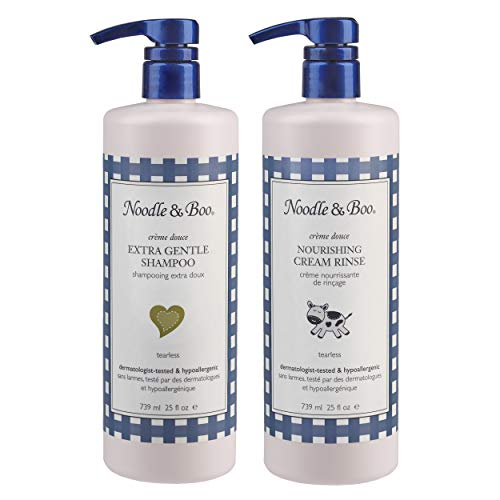 Noodle & Boo Extra Gentle Baby Shampoo and Nourishing Cream Rinse Set