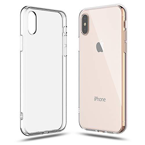 Shamo's Cover iPhone XS Max Trasparente Custodia Gel Morbida Silicone Sottile TPU Ultra Leggera e Chiaro