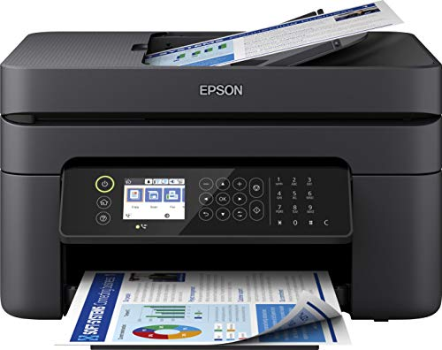 Epson WorkForce WF-2850DWF 4-in1-Tintenstrahl-Multifunktionsgerät, Drucker (Scannen, Kopieren, Fax, WiFi, ADF, Duplex, Einzelpatronen, DIN A4) Amazon Dash Replenishment, schwarz