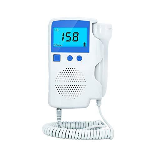 DZDZ Fetɑl Dopplte Detector de Sonar de precisión para el hogar portátil 3.11 (Color : White)