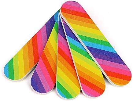Nail Files Bufers 5pcs Rainbow Max 69% OFF Sandin File Long-awaited Color Mini Block