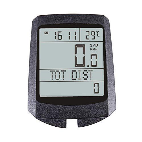 Ordenador inalámbrico para bicicleta, cuentakilómetros de ciclismo, velocímetro, multifunción, impermeable, despertador automático,...