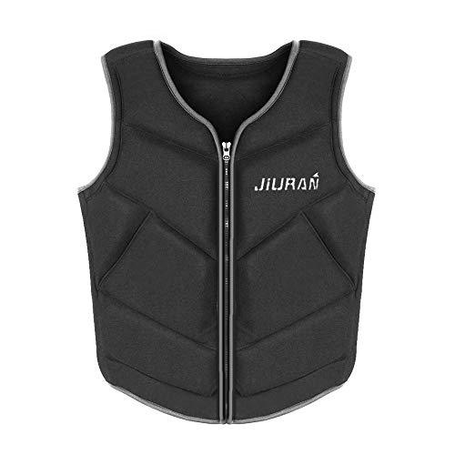 QTER Schwimmweste, Schwimmende Jacke für Erwachsene im Freien, Treibanzug, Angelweste, Festtoffweste ideal für den Wassersport, Schwimmen, Skifahren
