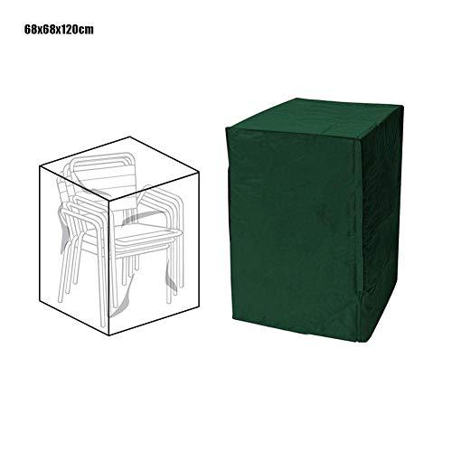 Magent Garden - Funda para silla apilable impermeable a prueba de polvo para muebles de exterior, Verde, 68x68x120cm