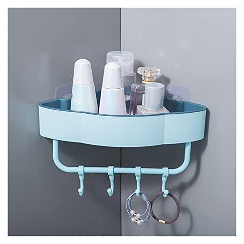 Estante de almacenamiento organizador de esquina Estante de baño de la esquina de la esquina de la esquina del ponche de la plataforma del baño con accesorios de baño de gancho Shampoo Titular de esta