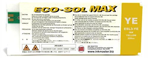 Ink Master - Cartucho remanufacturado Roland Eco-Sol MAX Yellow para Roland BN-20 RS-540 RS-640 SJ-645EX SJ-745EX SJ-1045IS SP-300i SP-300V SP-540i SP-540V VP-540i VP-300i XC-540 XJ-640 XJ-740