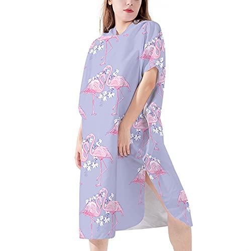 Albornoz de Microfibra para Mujer Lujoso Secado Rápido Robe de Dormir Extremadamente Ligero Vestido de Bata