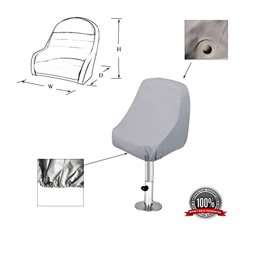 SavvyCraft Waterproof Pontoon Boat Captain Seat Chair Cover 21'(D) x 22'(W) x 22' (H)