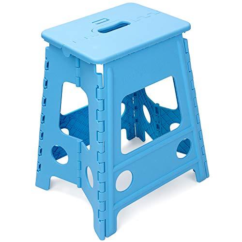 踏み台 折りたたみ踏み台・ステップ高さ22cm、滑り止め折りたたみステップスツール、丈夫で十分安全、大人/子供兼用 (幅22CMX高さ42CM)