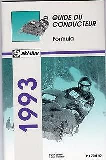 1993 SKI-DOO FORMULA,MACH 1 PLUS X OWNERS MANUAL FRENCH