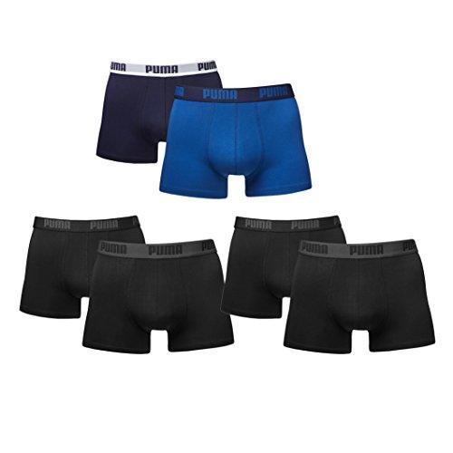 PUMA Herren Boxer Boxershorts im Farbmix. 6er Pack (S - 6er Pack, schwarz/blau)