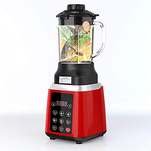 JXWWNZ Blender 800 watt glas roestvrij staal | smoothie maker | mixer | universeel power mixer | 1.75L | 8-voudig metalen mes | hakmolen | ijs crusher.