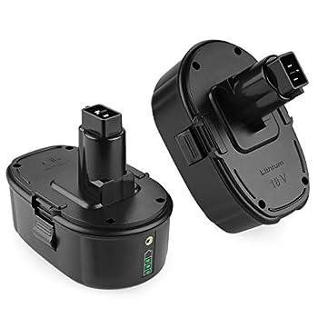 Energup Upgraded 6.0Ah 2Pack Li-ion Replacement Dewalt 18V Battery for Dewalt 18 Volt XRP Ni-Cad DC9096 DC9098 DC9099 DE9039 DE9095 DE9096 DE9098 DW9096 DW9098 DE9503 DC9182 18V Dewalt Batteries