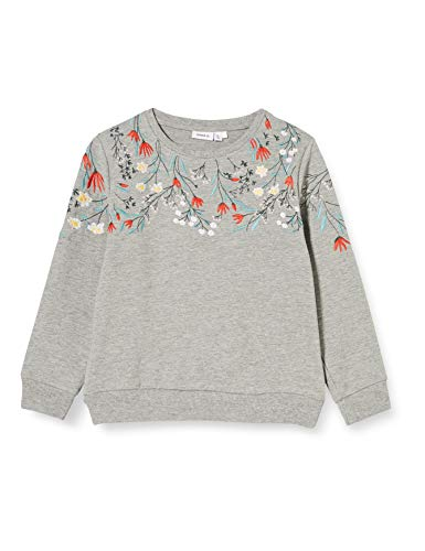 NAME IT Mädchen NMFKALLA UNB Sweater, Grey Melange, 92