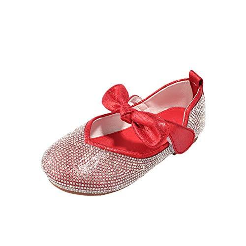 Mädchen Prinzessin Schuhe leichte lässige weiche Sohle Mary Jane Ballerinas Kinder süße Bowknot Crystal Dress Schuhe