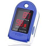 LIORQUE Oxímetro de Pulso, Oximetro de Dedo con Pantalla LED Pulsioximetro Digital para Saturación de Oxígeno en Sangre (Sp02) y Frecuencia de Pulso(PR)