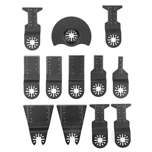 Cuchilla oscilante, 12pcs Cuchillas de sierra de múltiples herramientas oscilantes estándar Cortadores de herramientas eléctricas