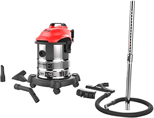 Eureka Forbes Wet and Dry Ultimo 20-Litre 1400 Watt Muilt Function Vacuum Cleaner (Red and Steel)