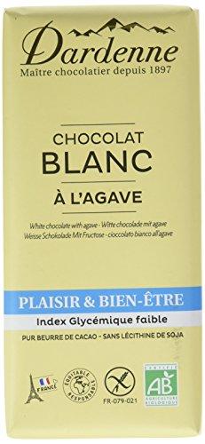 Dardenne Tablette Plaisir & Bien-Etre Chocolat Blanc à l'Agave 100 g