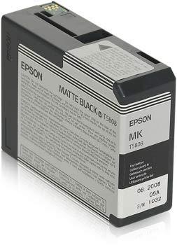Epson t5808–Negro Mate–Original–Cartucho de tinta–fà ¼ r Stylus Pro 3800, Pro 3880